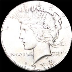 1935 Silver Peace Dollar CLOSELY UNCIRCULATED