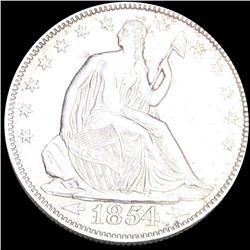 1854 Seated Half Dollar UNCIRCULATED