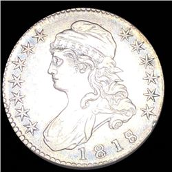 1818/7 Capped Bust Half Dollar ABOUT UNCIRCULATED