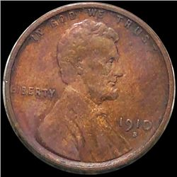 1910-S Lincoln Wheat Penny LIGHTLY CIRCULATED
