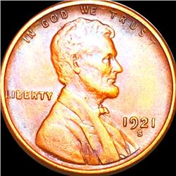 1921-S Lincoln Wheat Penny CLOSELY UNCIRCULATED