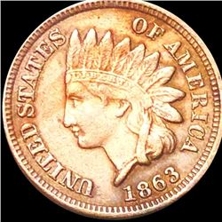 1863 Indian Head Penny ABOUT UNCIRCULATED