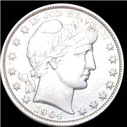 1904 Barber Half Dollar AU++/UNC