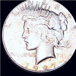 1927-S Silver Peace Dollar ABOUT UNCIRCULATED