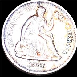 1866-S Seated Half Dime CLOSELY UNCIRCULATED