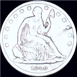 1840 Seated Half Dollar LIGHTLY CIRCULATED