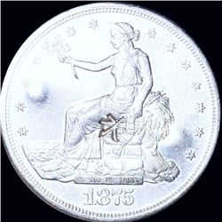 1875-S Silver Trade Dollar UNCIRCULATED