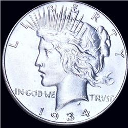 1934 Silver Peace Dollar UNCIRCULATED