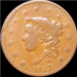 1837 Coronet Head Large Cent LIGHTLY CIRCULATED