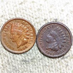 1863/1864 Indian Head Pennies NICELY CIRCULATED