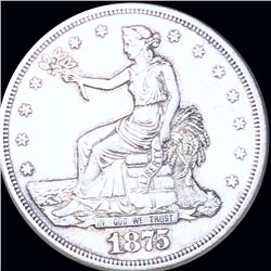 1875-S Silver Trade Dollar ABOUT UNCIRCULATED
