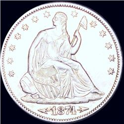1874-S Seated Half Dollar UNCIRCULATED