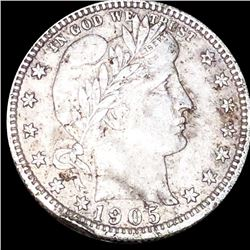 1905 Barber Silver Quarter LIGHTLY CIRCULATED