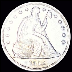 1843 Seated Liberty Dollar CLOSELY UNCIRCULATED