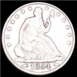 1854 Seated Half Dollar LIGHTLY CIRCULATED