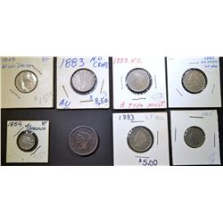 MIXED TYPE LOT 8 COINS