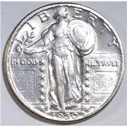 1930 STANDING LIBERTY QUARTER AU