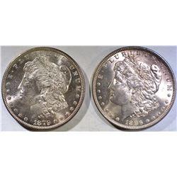 1879-S & 1896 MORGAN DOLLARS CH BU