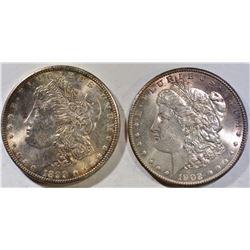 1899-O & 1902-O MORGAN DOLLARS CH BU