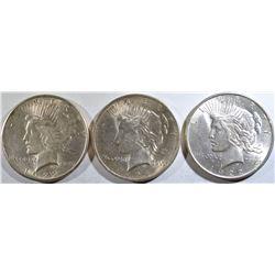 2 1922, & 24 PEACE DOLLARS BU