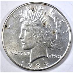 1934 PEACE DOLLAR AU