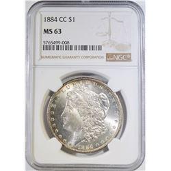 1884-CC MORGAN DOLLAR, NGC MS-63