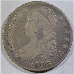 1808/7 BUST HALF DOLLAR FINE