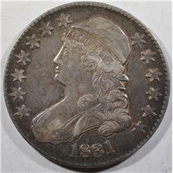 1831 BUST HALF DOLLAR AU