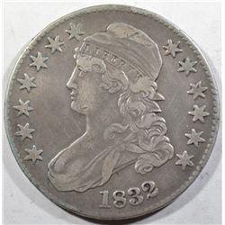 1832 BUST HALF DOLLAR VF/XF