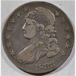 1833 BUST HALF DOLLAR VF
