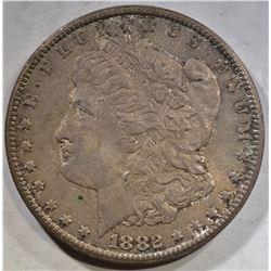 1882-CC MORGAN DOLLAR BU TONED