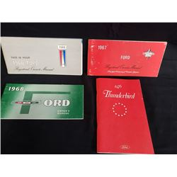 SET OF 4 FORD MANUAL 1966, 67, 68 AND 1976 THUNDERBIRD NO RESERVE