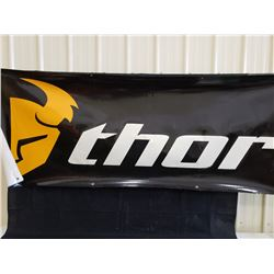 THOR BANNER 8FT WIDE BY 33 INCHES NO RESERVE