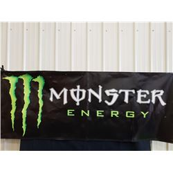 MONSTER ENERGY BANNER 8FT WIDE BY 3 FT HIGH NO RESERVE