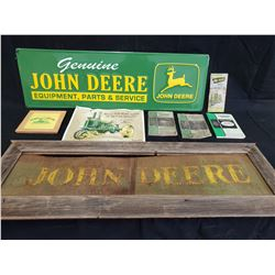 COLLECTION OF JOHN DEERE SIGNS AND MANUALS NO RESERVE
