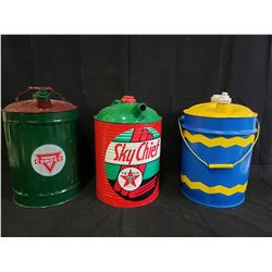 SET OF 3 CANS CONOCO, SKYCHIEF AND TEXACO NO RESERVE