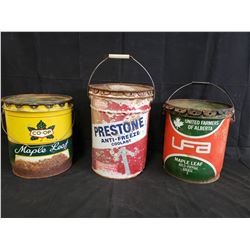 3 BUCKETS INCLUDING UFA, PRESTONE AND CO-OP NO RESERVE