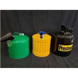 SET OF 3 PRESTONE GAS CANS NO RESERVE