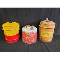 3 5 GALLON GAS CANS NO RESERVE