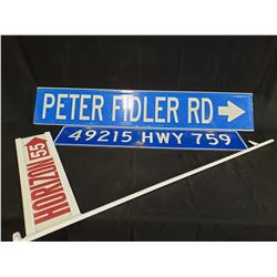 3 STREET SIGNS NO RESERVE