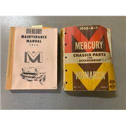 1956 MERCURY MAINTENANCE MANUALS NO RESERVE