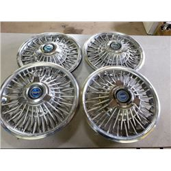 64 MUSTANG SPINNER HUBCAPS NO RESERVE