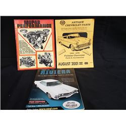 CHRYSLER BUILDING GUIDE AND CHEV PARTS GUIDE RIVIERA PARTS CATALOGUE NO RESERVE