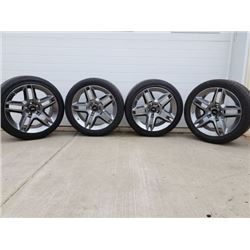 2010 SHELBY GT 500 SET OF TIRES AND RIMS SIZE P285/35R19 NO RESERVE