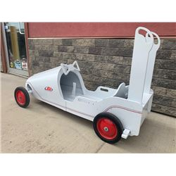 SOAP BOX RACE CAR WHITE  NO RESERVE