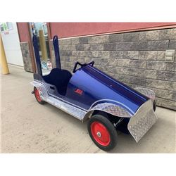 SOAP BOX RACE CAR BLUE  NO RESERVE