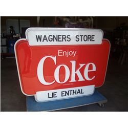 VINTAGE REAL DEAL COKE SIGN CIRCA 1960-70