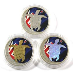 Collection of 2013 Fiji $1 Colourized Taku Turtle 1/2oz Fine Silver Coins (Tax exempt) You will rece
