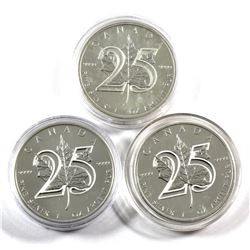 Lot of 2013 Canada $5 25th Anniversary 1oz Fine Silver Maples (Tax Exempt) Coins come in protective