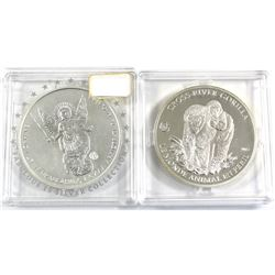 Pair of 2012-2013 F15 Privy Mark Silver Coins (Tax Exempt) You will receive a 2012 Republic of Camer